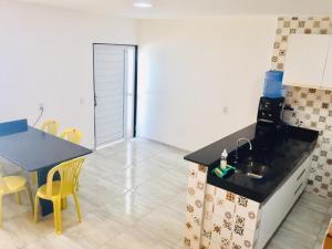 A seating area at Praia dourada