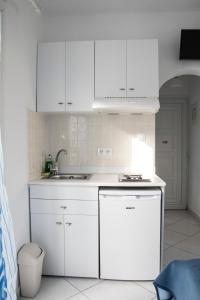 A kitchen or kitchenette at Ikaros Studios & Apartments