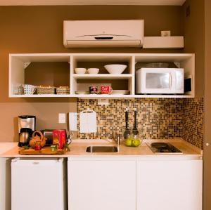 Virtuvė arba virtuvėlė apgyvendinimo įstaigoje Soho Point