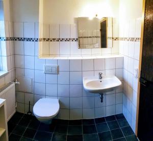 Ein Badezimmer in der Unterkunft Ferienwohnung Dahlenwarsleben