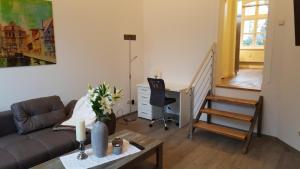 Posezení v ubytování Altstadtloft Lüneburg