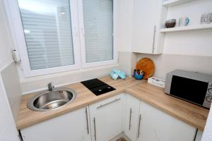Een keuken of kitchenette bij Apartman City Lux