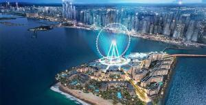 A bird's-eye view of Pearl Marina Hotel Apartment