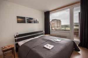 Ein Bett oder Betten in einem Zimmer der Unterkunft Vakantieappartement Sea Gull