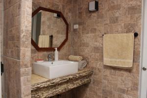 Un baño de Casa Familiar Pisco Elqui