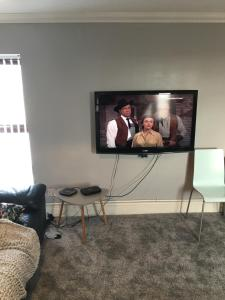A television and/or entertainment center at Llys dol may