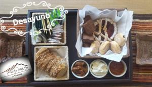 Opciones de desayuno para los huéspedes de Altas Tierras de Ventania
