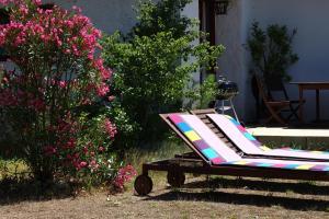 """A garden outside Gîte """"Le Crépuscule"""""""
