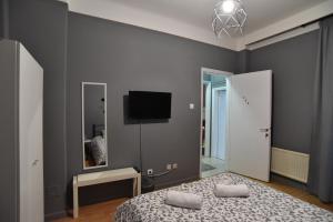 Μια τηλεόραση ή/και κέντρο ψυχαγωγίας στο Center Travellers Apartment