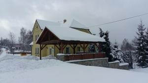 Penzion Rozalie during the winter