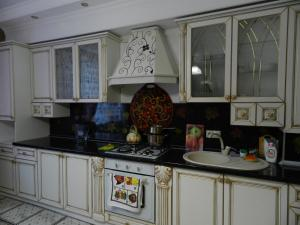 A kitchen or kitchenette at Apartment on Dekabristov