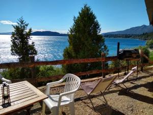 Una vista general del mar o el mar tomado desde la casa de vacaciones