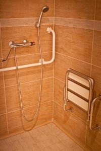 A bathroom at Soleil Apartman Szeged