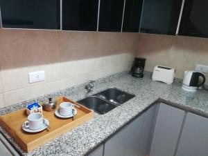 Una cocina o kitchenette en Departamento Sol Cuyano