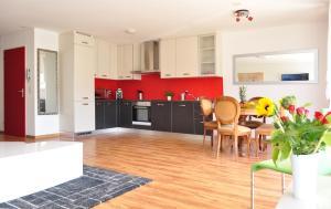 A kitchen or kitchenette at Apartment Moderna