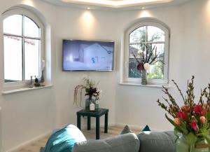 TV a/nebo společenská místnost v ubytování Villa Heinrich