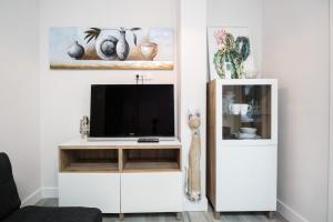 Een TV en/of entertainmentcenter bij Apartamento cerca de la estación de Atocha