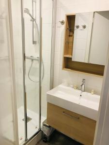 Salle de bains dans l'établissement Hippotel