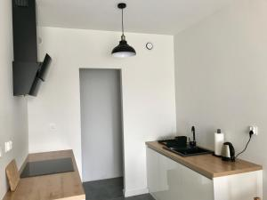 A kitchen or kitchenette at Apartament Antoniny