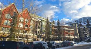 Whistler Town Plaza by Whiski Jack during the winter