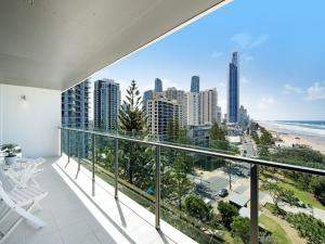 A balcony or terrace at Absolute Beachfront - Central Surfers Paradise