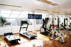 The fitness centre and/or fitness facilities at Suites Amberes