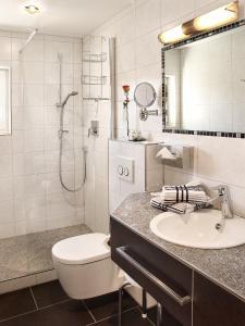 Ein Badezimmer in der Unterkunft Fellhornhaus Ferienwohnungen