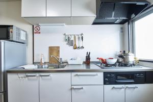 ครัวหรือมุมครัวของ NEW OPEN!JR今宮駅から徒歩1分 2LDK #602