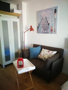Ein Sitzbereich in der Unterkunft Coqueto estudio en la playa