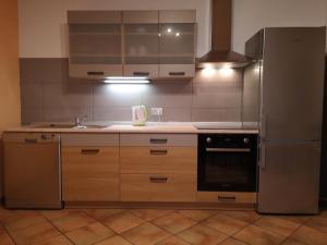 Küche/Küchenzeile in der Unterkunft Apartma EYGA