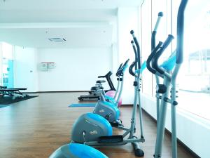 The fitness center and/or fitness facilities at Exclusuite The Wave Comfy Home @ Malacca