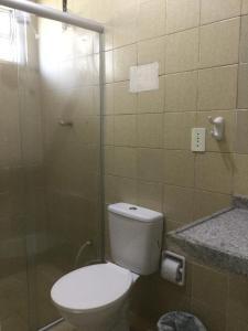 Koupelna v ubytování Residencial Vecchio