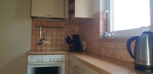 Küche/Küchenzeile in der Unterkunft Im Ballhaus Neuhilbersdorf