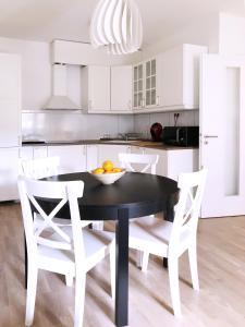 Kuchyň nebo kuchyňský kout v ubytování Golf apartment