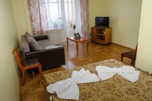 Гостиная зона в Apartament na Adamkovskoy