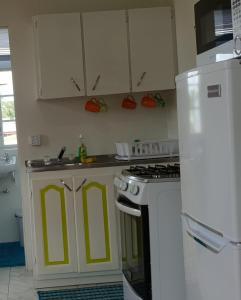 A kitchen or kitchenette at ELIZABETH PARK - COZY STUDIO