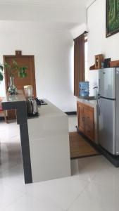 Cuisine ou kitchenette dans l'établissement Villa Ole