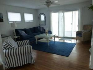 A seating area at Ocean Side Single Family in Brant Beach 140118