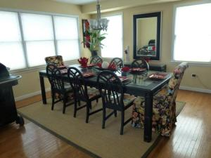 A restaurant or other place to eat at Ocean Side Single Family in Brant Beach 140118