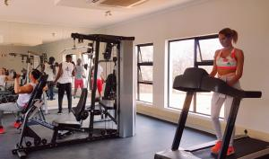 The fitness center and/or fitness facilities at Enigma Hotel Apartments