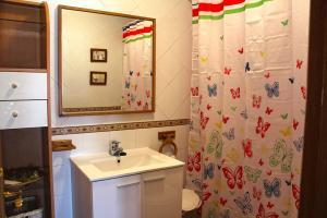 A bathroom at Casa del Plantel