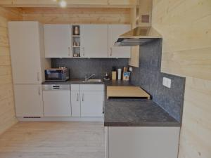 A kitchen or kitchenette at Holzblockhaus Stark