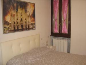Cama o camas de una habitación en Flat in Milan 1