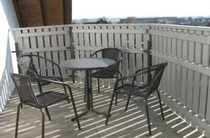 Ein Balkon oder eine Terrasse in der Unterkunft Appartement Am Goldberg
