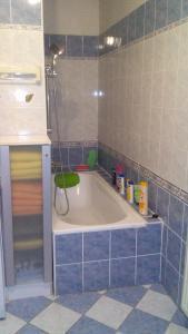 A bathroom at Apartment Smeralova