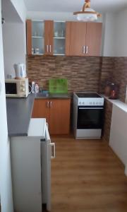 A kitchen or kitchenette at Apartmány Banský Studenec