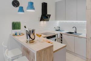 A kitchen or kitchenette at Feriatum Rent Centrum