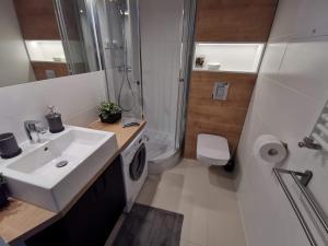 Łazienka w obiekcie Przytulne apartamenty na Pułaskiego