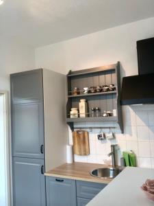 Küche/Küchenzeile in der Unterkunft Kaßberg-Apartment am Puls der Stadt