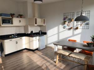 A kitchen or kitchenette at Appartement Slapen in ♡ Leeuwarden